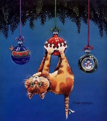 Необычная открытка с новым годом